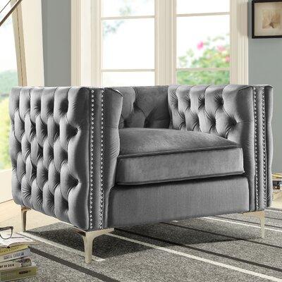 Da Vinci Arm Chair Upholstery: Gray
