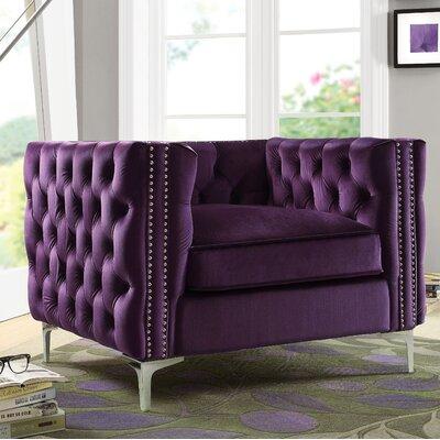 Marlon Armchair Upholstery: Purple