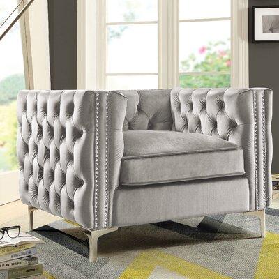 Da Vinci Arm Chair Upholstery: Silver
