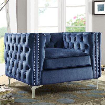 Marlon Armchair Upholstery: Navy