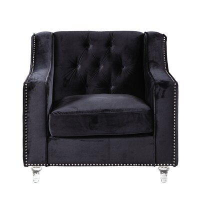 Dylan Club Chair Upholstery: Black