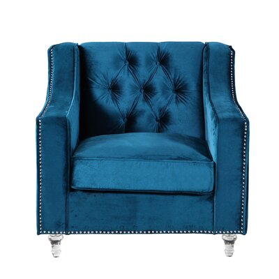 Dylan Club Chair Upholstery: Blue