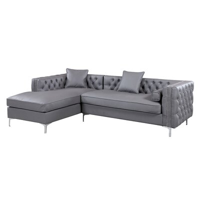 Neysa Contemporary Sectional Upholstery: Gray, Orientation: Right Hand Facing