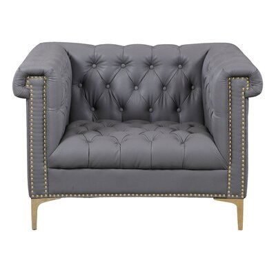 Maloney Club Chair Upholstery: Gray