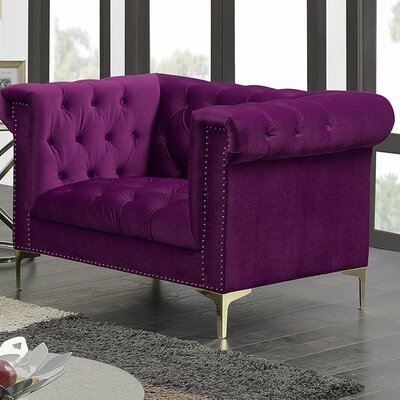 Bea Velvet Club Chair Upholstery: Samson