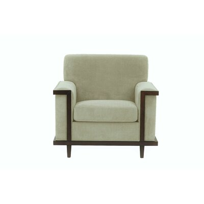 Mahowny Retro Trim Armchair Upholstery: Beige