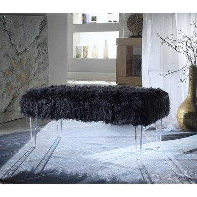 Caddington Upholstered Bench Upholstery: Black