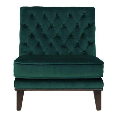 Achilles Neo Tufted Velvet Slipper Chair Upholstery: Green