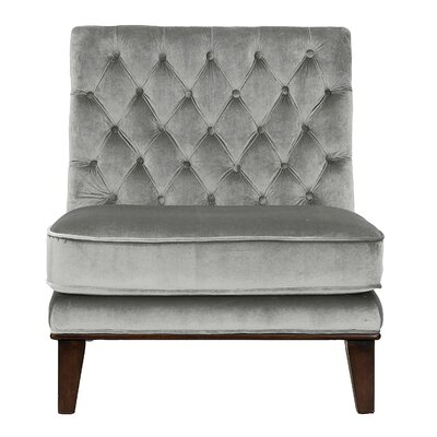 Wille Slipper Chair Upholstery: Gray