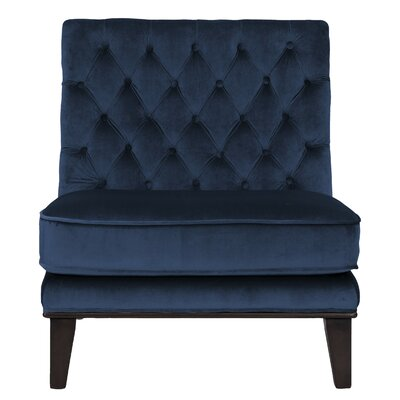 Wille Slipper Chair Upholstery: Navy