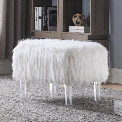 Melia Leg Ottoman Upholstery: White