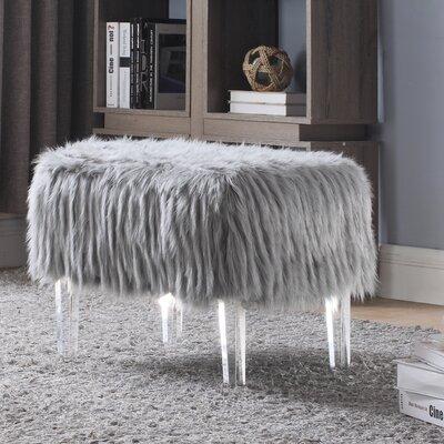 Melia Leg Ottoman Upholstery: Gray