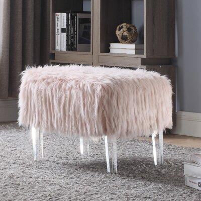 Melia Leg Ottoman Upholstery: Pink