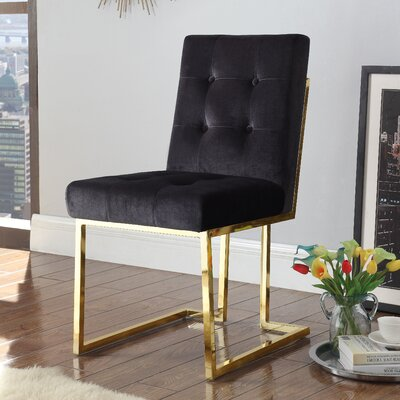 Zoila Upholstered Dining Chair Upholstery: Black