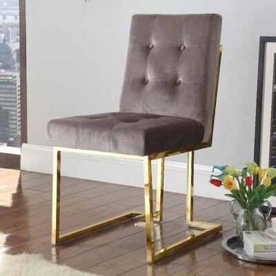 Zoila Upholstered Dining Chair Upholstery: Taupe