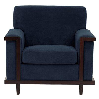 Mahowny Retro Trim Armchair Upholstery: Navy