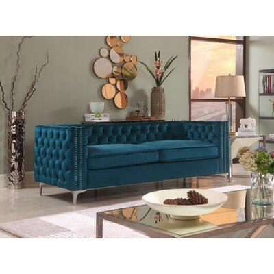 Marlon Chesterfield Sofa Upholstery: Teal