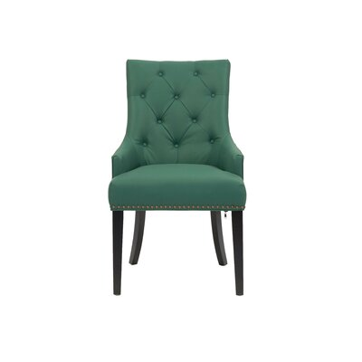 Streater Upholstered Dining Chair Upholstery Color: Green