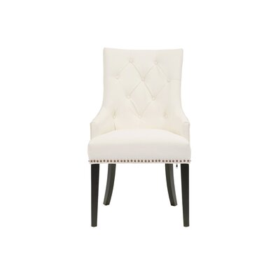 Streater Upholstered Dining Chair Upholstery Color: White