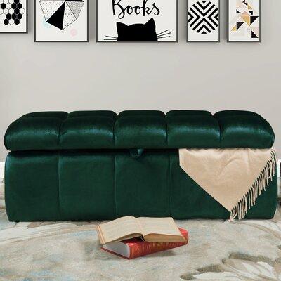 Bradman Storage Ottoman Upholstery: Green