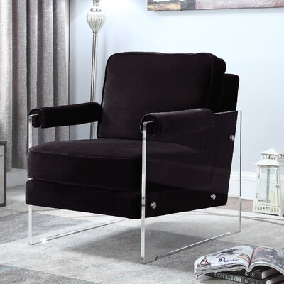 Bourne Armchair Upholstery: Black