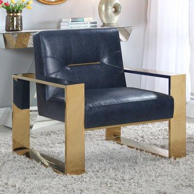 Buckminster Armchair Upholstery: Navy