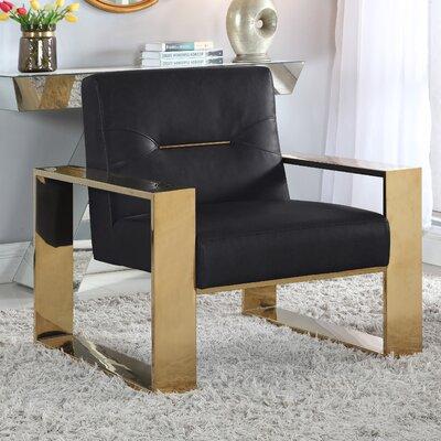 Buckminster Armchair Upholstery: Black