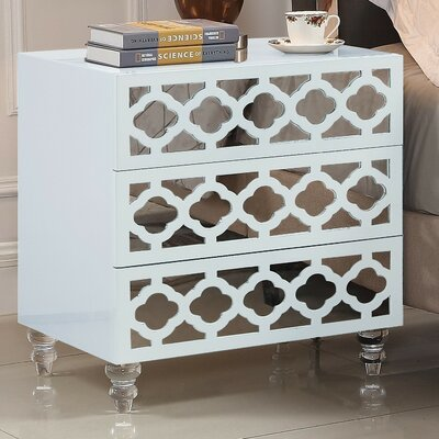 Connie 3 Drawer Nightstand Finish: White