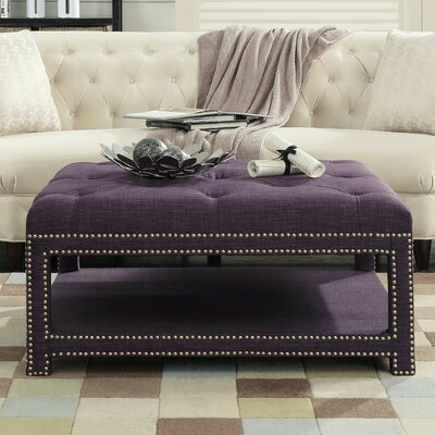Clarion Coffee Table Color: Purple