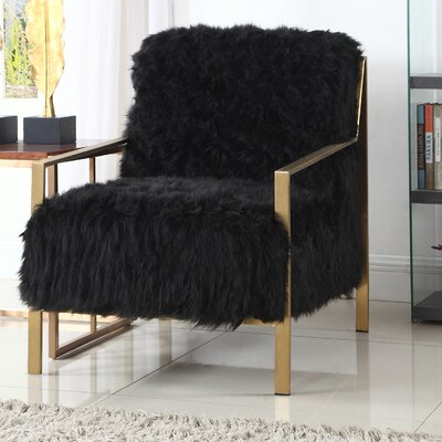 Connolly Armchair Upholstery: Black
