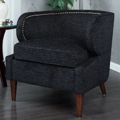 Landisville Barrel Chair Upholstery: Black