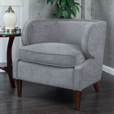 Landisville Barrel Chair Upholstery: Gray