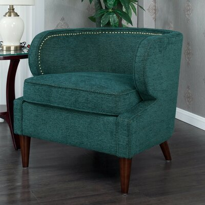 Landisville Barrel Chair Upholstery: Teal