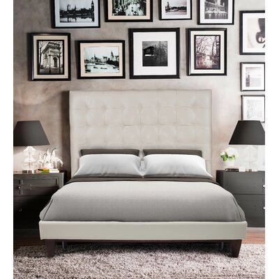 Mccann Platform Bed Size: Queen, Color: Cream