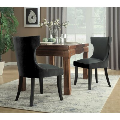Maire Upholstered Dining Chair Color: Charcoal/Gray