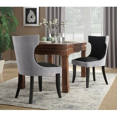 Maire Upholstered Dining Chair Color: Gray/Black