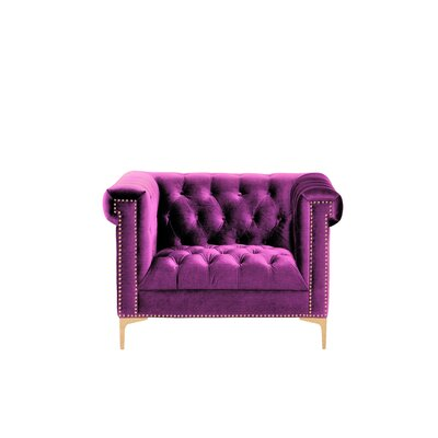 Bea Velvet Club Chair Upholstery: Samson