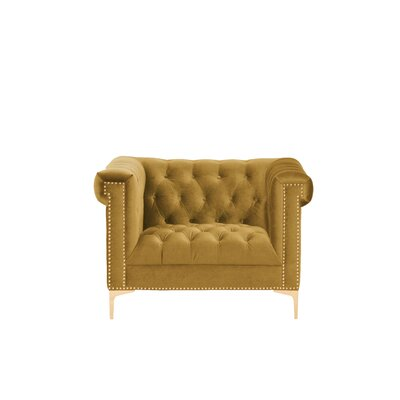 Bea Velvet Club Chair Upholstery: Cognac