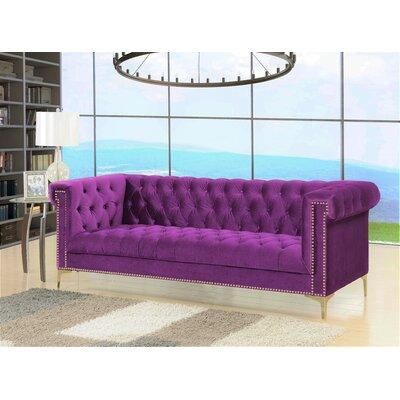 Bea Velvet Chesterfield Sofa Upholstery: Samson