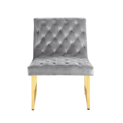 Ida Side Chair Upholstery: Gray