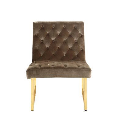 Ida Side Chair Upholstery: Taupe
