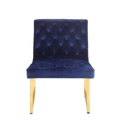 Ida Side Chair Upholstery: Navy