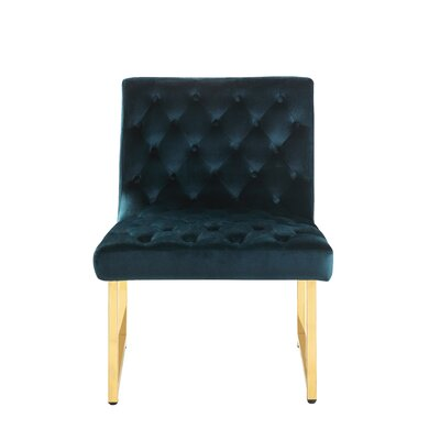 Ida Side Chair Upholstery: Green