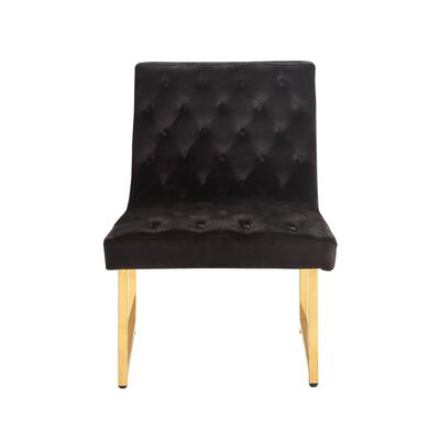 Ida Side Chair Upholstery: Black