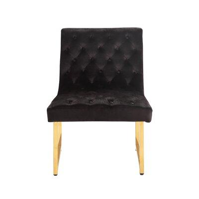 Ida Side Chair Upholstery: Black