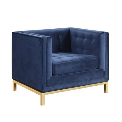 Pratik Club Chair Upholstery: Navy