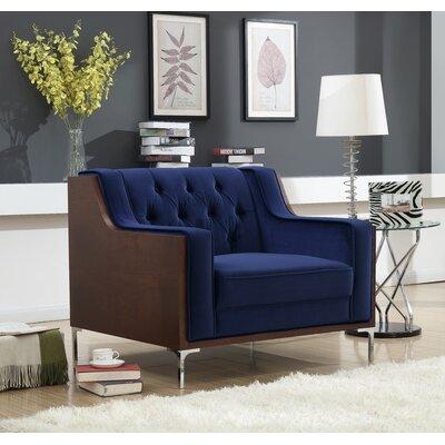 Daum Armchair Upholstery: Navy