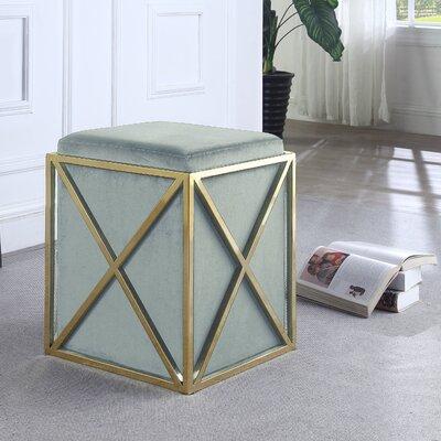 Ayoub Cube Ottoman Upholstery: Gray