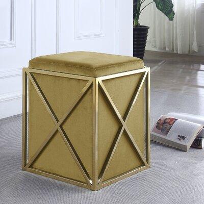 Ayoub Cube Ottoman Upholstery: Cognac