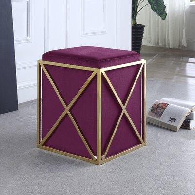 Ayoub Cube Ottoman Upholstery: Plum